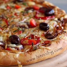 Домашна пица с петрохан