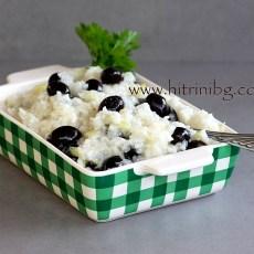 Маслини с праз лук и ориз