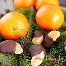 Рецепта за мандарини в шоколад