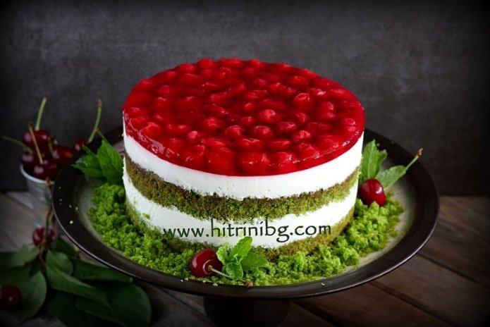 торта с вишни
