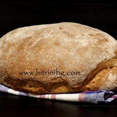 Селски хляб с трици и типово брашно
