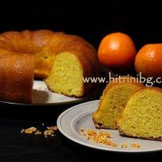 Портокалов кекс със сок от портокали