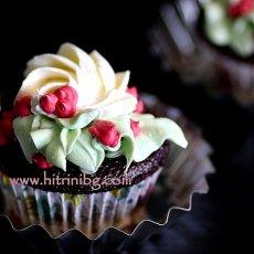 Шоколадови мъфини с декорация