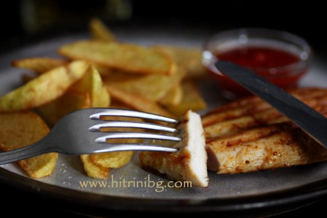 пилешко филе на сандвич тостер