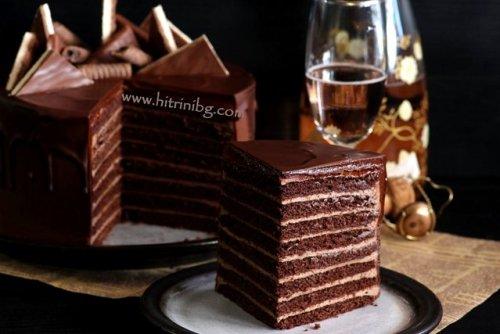 шоколадов медовик за десерт