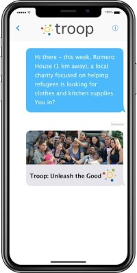 Troop weekly needs text message - Romero House