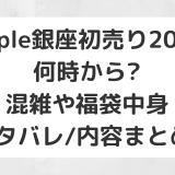 Apple銀座初売り2020|何時から?混雑や福袋中身ネタバレ/内容まとめ!