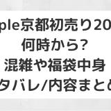 Apple京都初売り2020|何時から?混雑や福袋中身ネタバレ/内容まとめ!