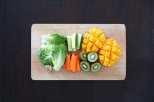 barn och grönsaker