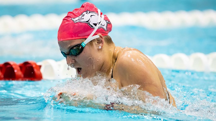 Palsha's first-place finishes not enough for Razorbacks in meet at Houston