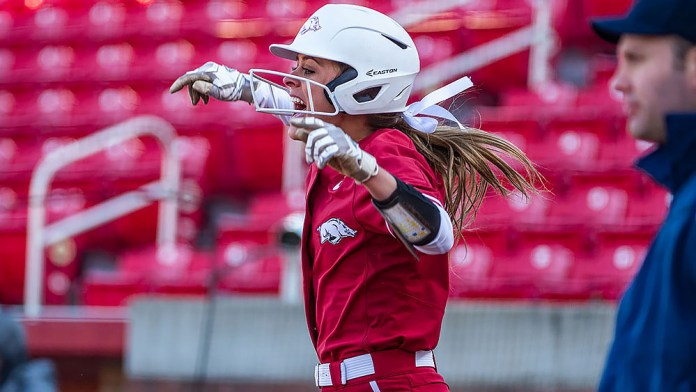 Storms' pitching, Gibson's hit lifts Razorbacks over Crimson Tide on Friday