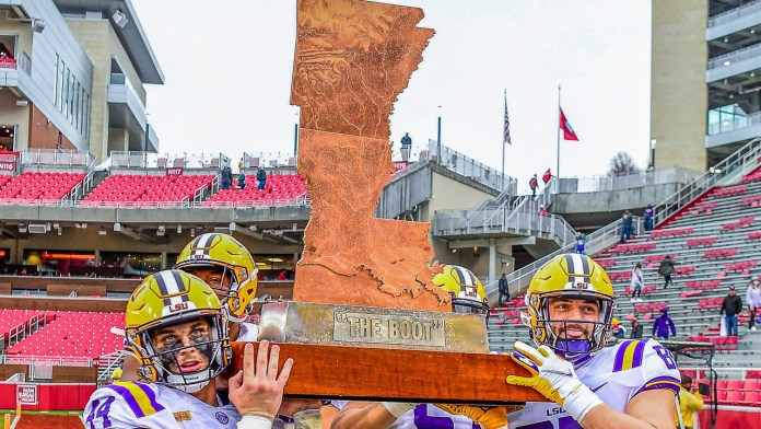 LSU takes home 'Golden Boot,' even though Tigers fans don't care