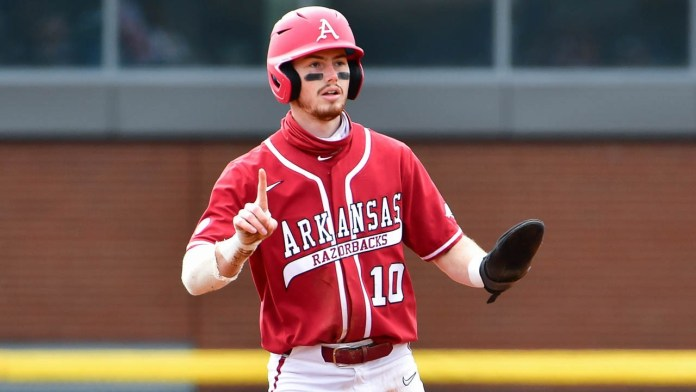 Hogs explode for four runs early, never look back in win