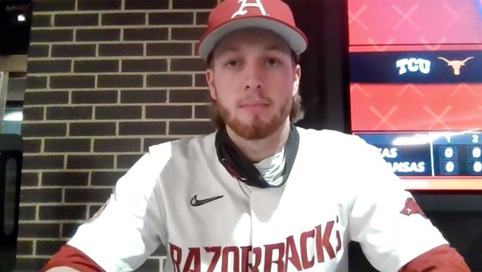 Bolden on strong four innings picking up save in Hogs' win over Longhorns