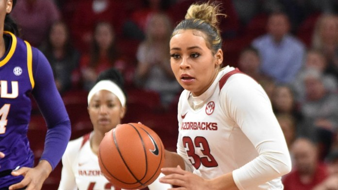 Dungee on being named All-American, Hogs in San Antonio