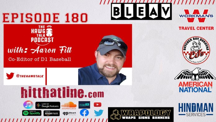 THE HAWG TALK PODCAST: Aaron Fitt of D1 Baseball