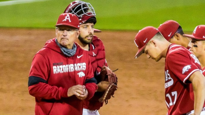 Van Horn on Hogs' pitching plus Moore's big night at plate