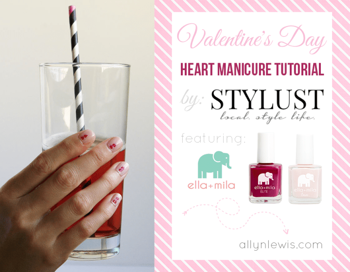 Valentine's Day Heart Manicure Tutorial