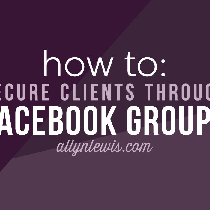 How to Secure Clients Through Facebook Groups