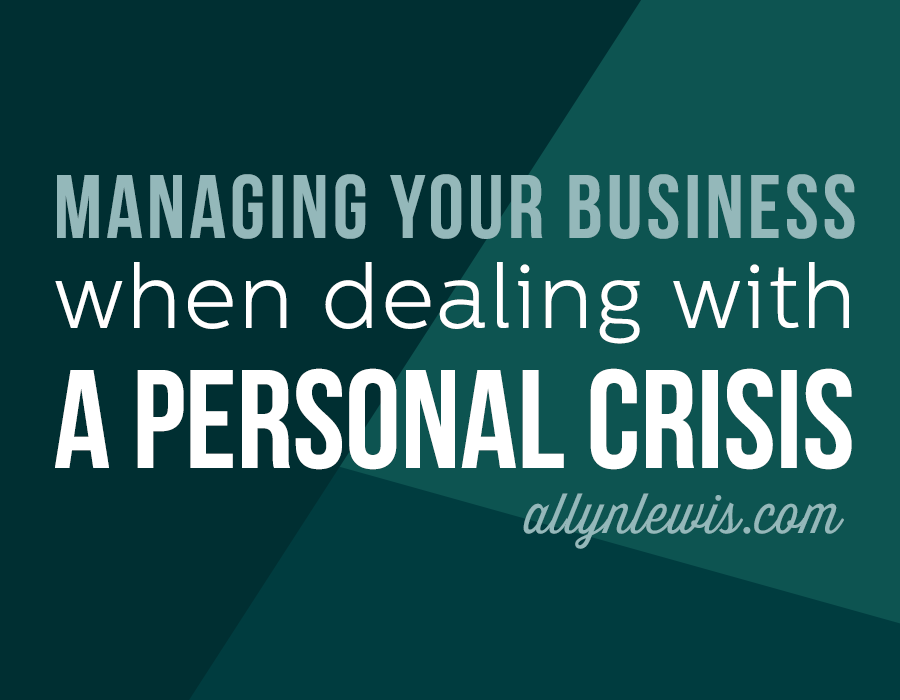 A crisis is defined as anything that causes you difficulty to function.