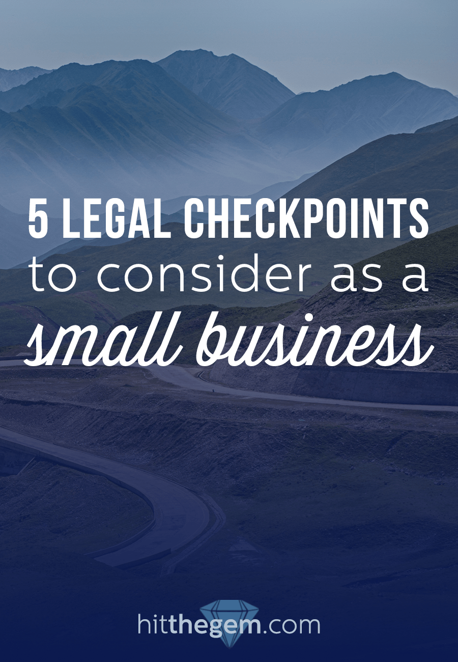 Joey Vitale, Attorney for Creatives at Indie Creative Law gives 5 legal checkpoints you need to consider as a new business.