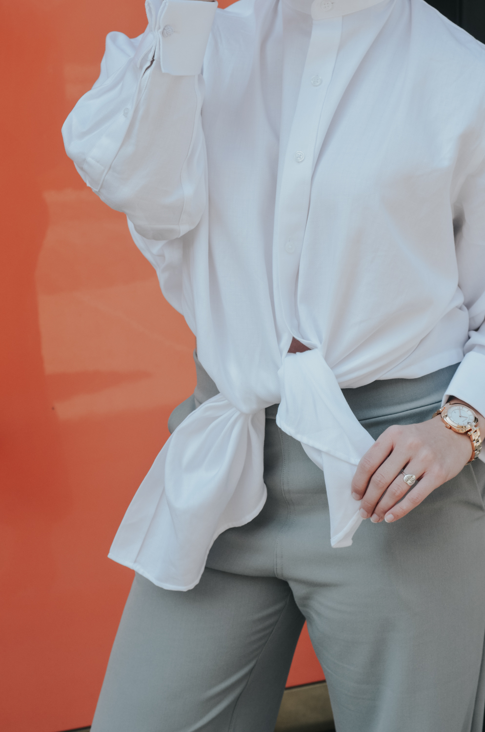 Narrow Arrow grey culottes and shirt | fall fashion trends, wide leg pants, trending, new york fashion week, street style