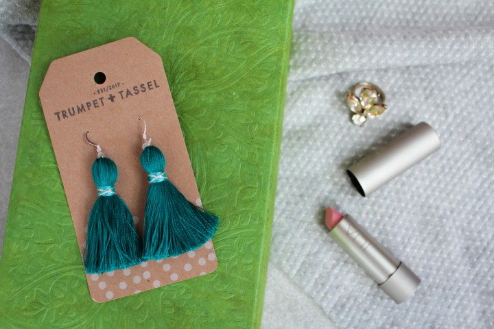 Tiny Tassel Earrings from Trumpet + Tassel