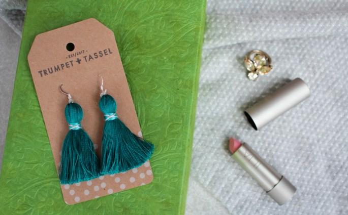 Tiny Tassel Earrings from Trumpet + Tassel
