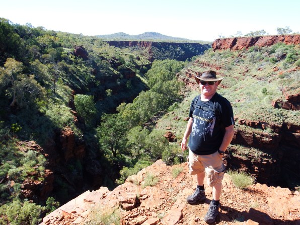 Craig at top of gorge rim