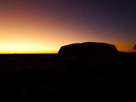 Sunrise over Uluru view from sunset lookout