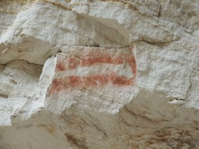 The rifle stencil at Cathedral Cave
