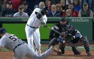 David Ortiz Grand Slam in 2013 Playoffs Baseball Hitting Video Analysis