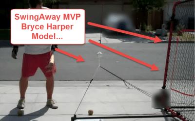 Baseball Hitting Drills For Bat Speed: SwingAway MVP Bryce Harper model