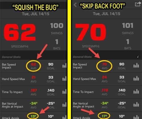 Squish the Bug Baseball Swing Mechanics Experiment