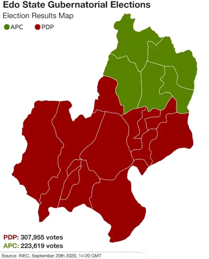 Edo state election map
