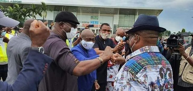 Wike celebrating Edo Guber election win