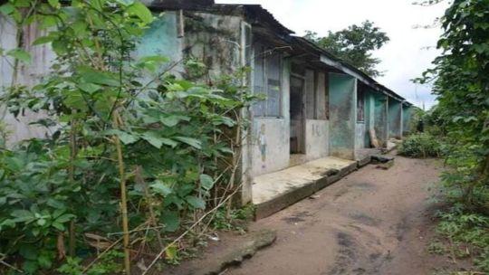 abandoned Umuagbai police station at Ndoki