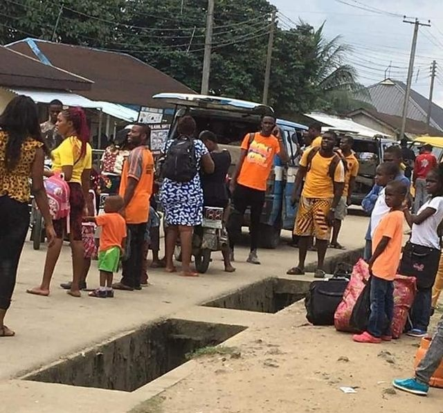 some residents of Oyigbo have been spotted, fleeing