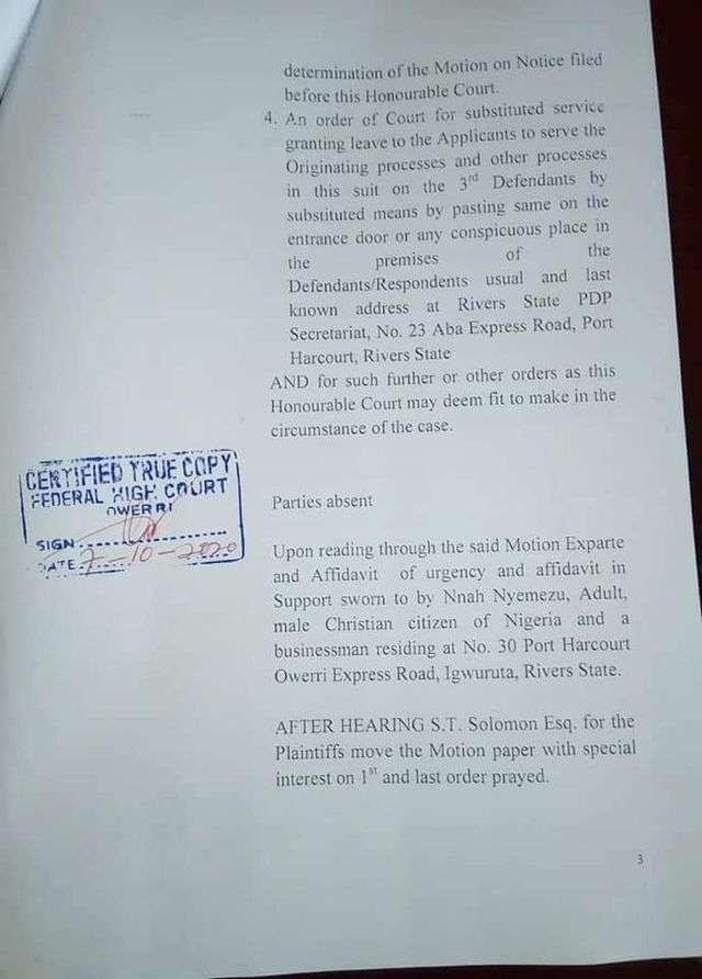 Court order 3