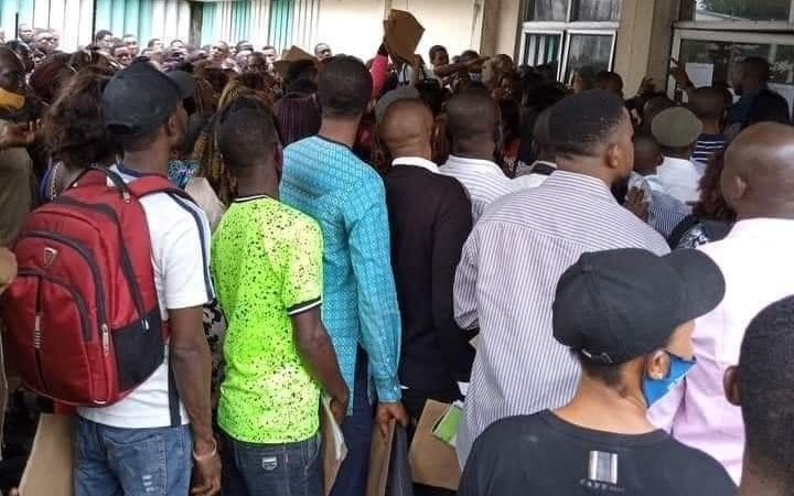Mammoth crowd gather for Rivers civil service job recruitment