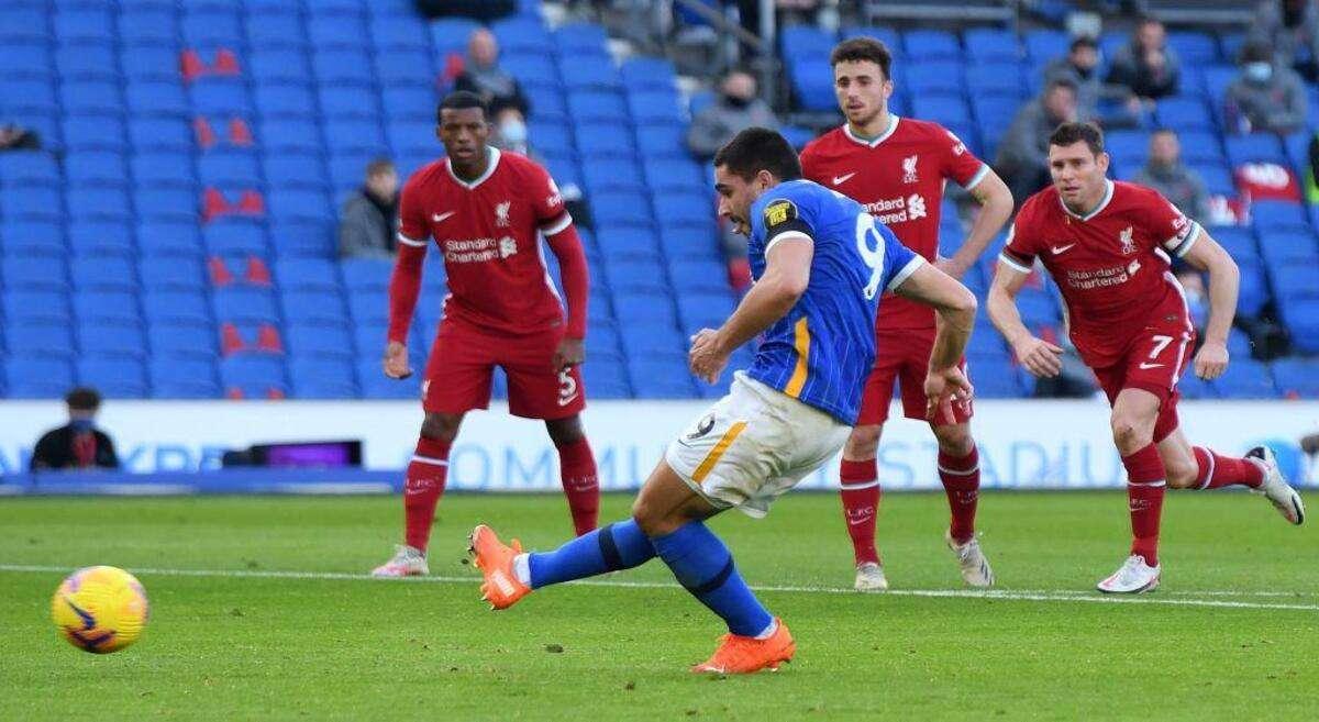 Premier League: Brighton 1-1 Liverpool