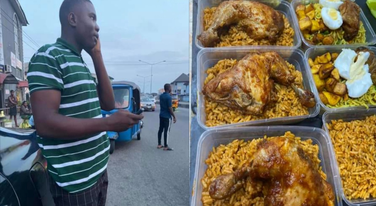 Lady calls out boy for ordering N39k food with fake transfer