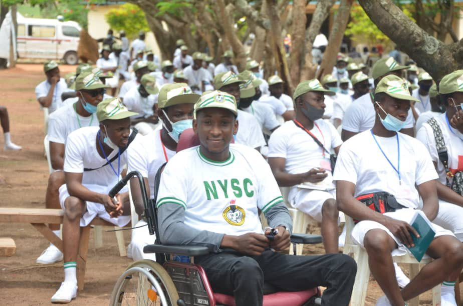 A physically challenged corps member identified as Byang Haruna has proudly expressed joy as he gets to finally serve his father's land - Nigeria.