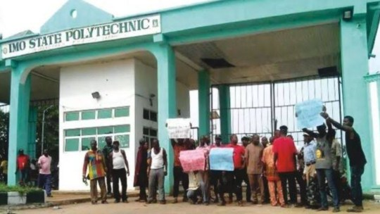 Imo Poly students protest over lack of academic activities for a year