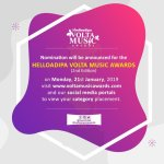 HelloAdipa Volta Music Awards 2019 Readies To Announced Nominees