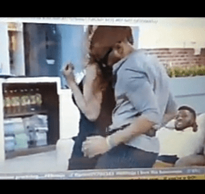 #Bbnaija; Ozo and Nengi seductively grind against each other as other housemates watch in delight (video)