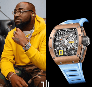 Check out Davido's Richard Mille watch worth N58Million