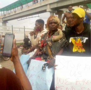 Native Doctor Spotted At #EndSars Protest In Ogun State