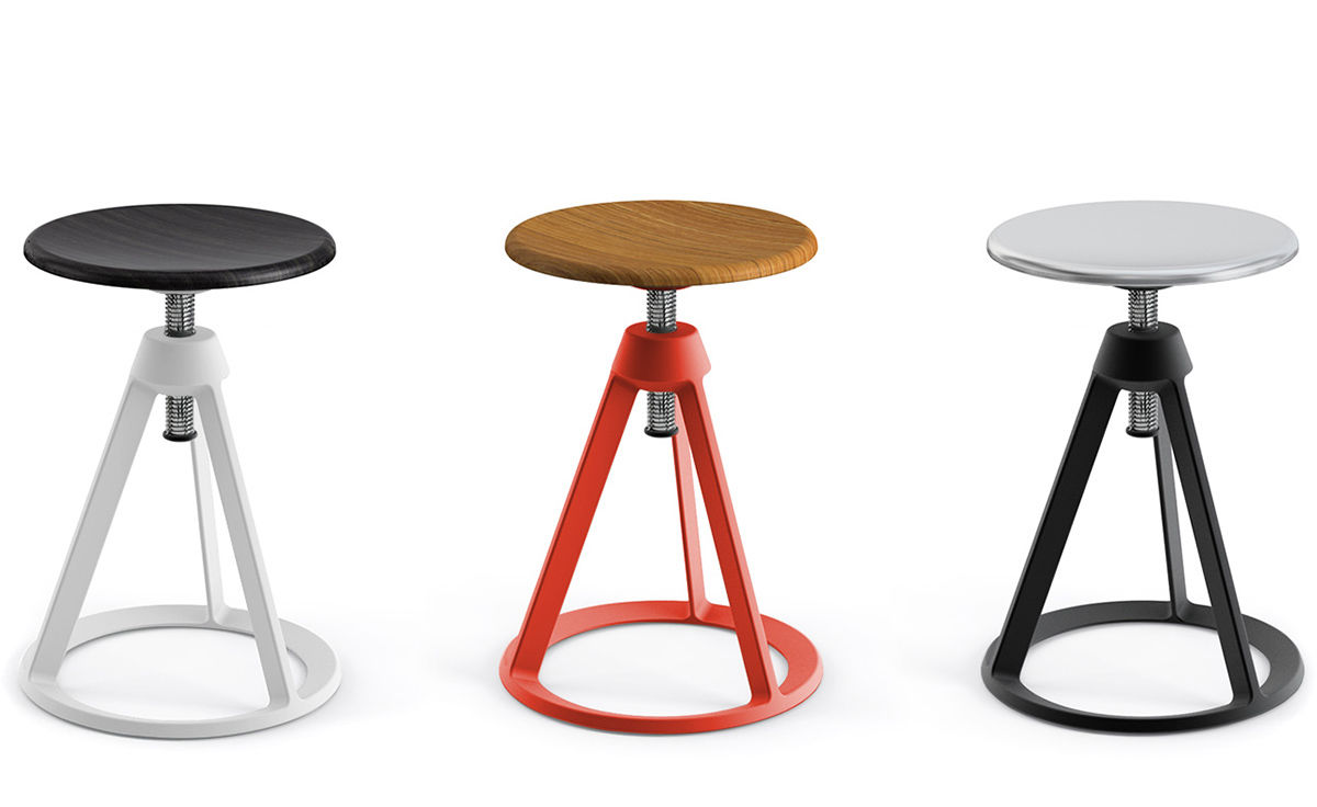 Barber Osgerby Piton Adjustable Stool