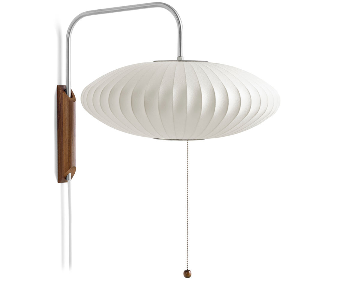 nelson bubble lamp wall sconce saucer